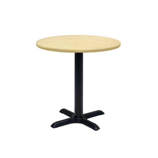 30″ Round Cafe Table - Maple with Black Base