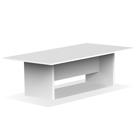 6′ Conference Table - White
