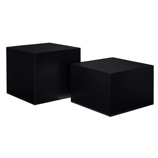 Cube Tail Table Black Occasional Tables Als For
