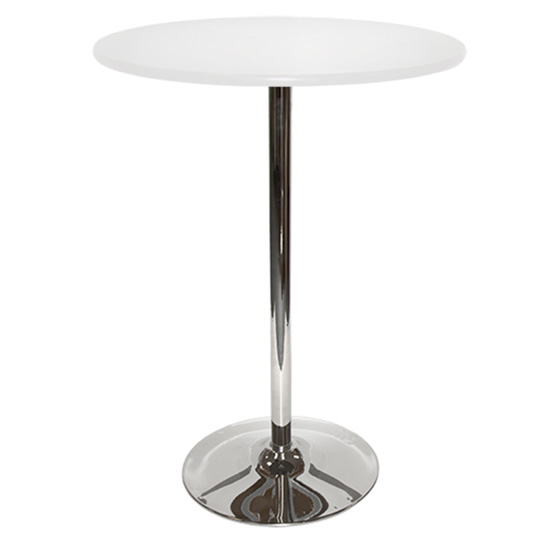 Round Bar Table With Tulip Base White Bar Café Collections - Cheap round bar table