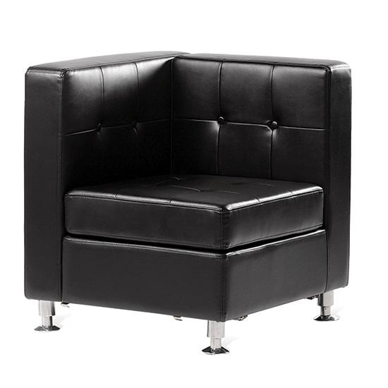 Boca Corner   Black Leather