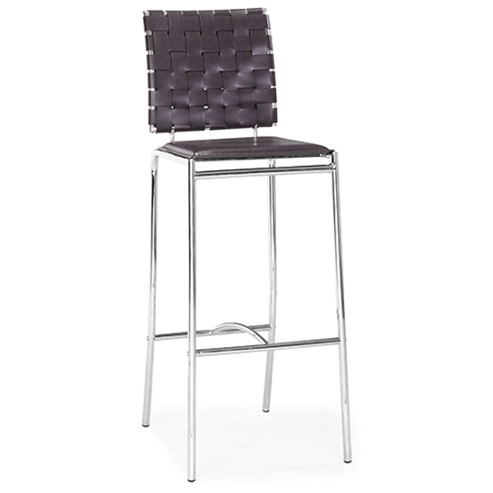 Criss Cross Bar Stool - Espresso