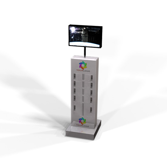 Charging Locker Tower with Monitors