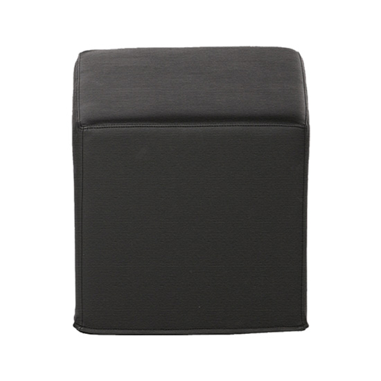 Cube Ottoman - Black Leather