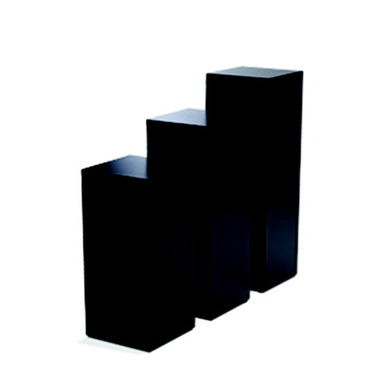 Display Pedestal 42″ Black 18″ Sq.