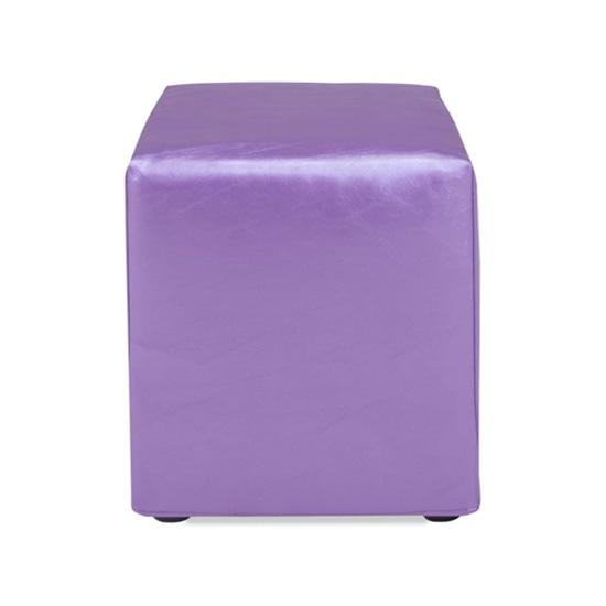 Cube Ottoman - Purple Vinyl