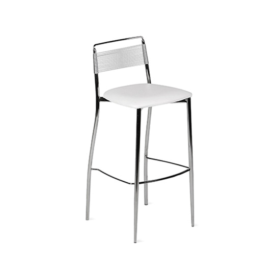Silk Back Bar Stool White Bar Café Collections Rentals For Events