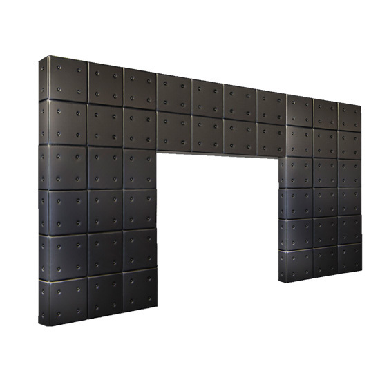Style Tyles Entryway - Black Tufted Leather Double