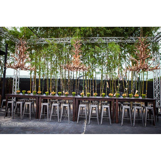 Memphis Rectangle Bar Table Bar Stools Rentals For Events