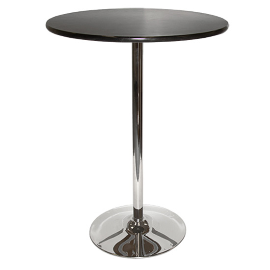30″ Round Bar Table With Tulip Base - Black
