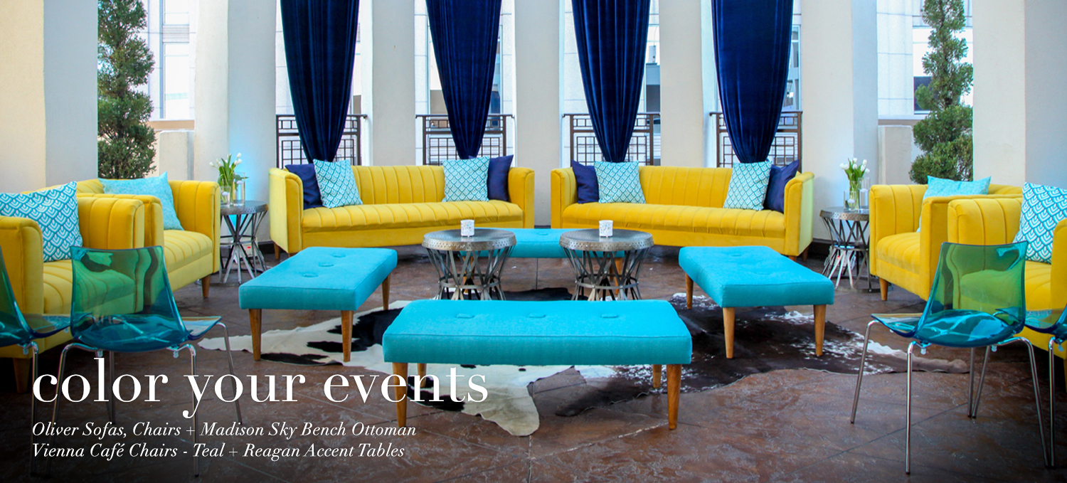 Butterfly pub table and Marcus stools for rent at your next special event.